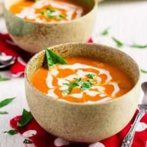 пряный тыквенный крем-суп кокосовое молоко