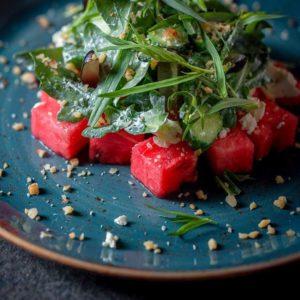 Летние салаты с арбузом