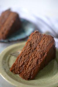 шоколадний торт на кокосовому борошні