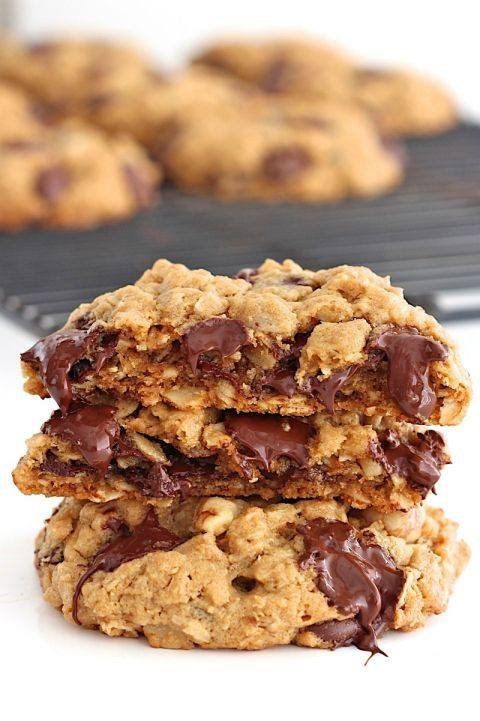 шоколадно-вівсяне печиво на кокосових продуктах